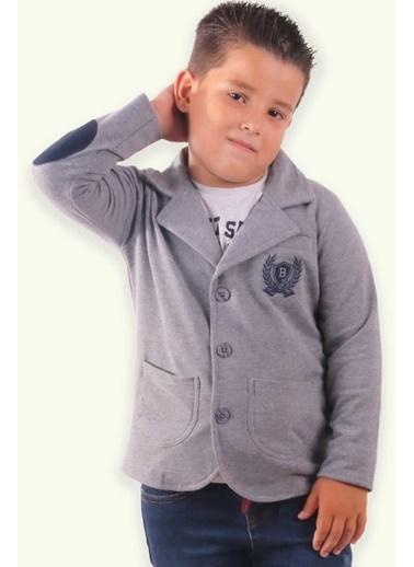 E&H Erkek Çocuk Hirka Ceket Dügmeli Gri (2-12 Yaş) Gri